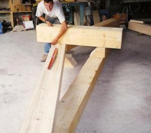 Réalisation d'une ferme en bois